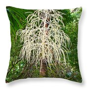 White Confetti Palm Throw Pillow