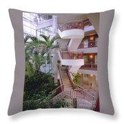 Corporate Woods White Lobby Throw Pillow