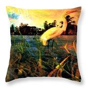 White Cranes Throw Pillow