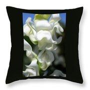 White Creamy Peaceful Throw Pillow