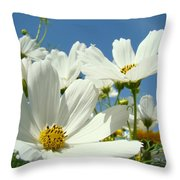 White Daisy Flowers Fine Art Photography Daisies Baslee Troutman Throw Pillow