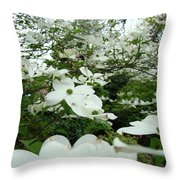 White Dogwood Flowers 6 Dogwood Tree Flowers Art Prints Baslee Troutman Throw Pillow