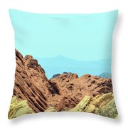 White Domes Beauty Throw Pillow
