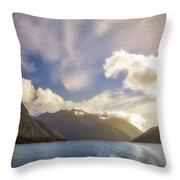 White Dragon Cloud In The Sky At Lake Manapouri Throw Pillow