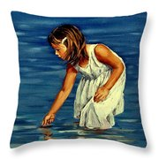 White Dress Throw Pillow
