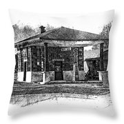 White Eagle Gas Station Throw Pillow