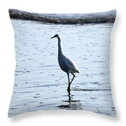 White Egret Throw Pillow