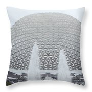 White Epcot Throw Pillow