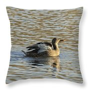 White Feathers  Throw Pillow