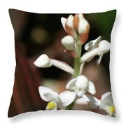 White Flower Buds Throw Pillow