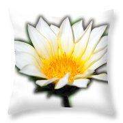 White Flower T-shirt Throw Pillow