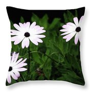 White Flowers In The Garden Throw Pillow
