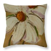White Flowers Throw Pillow