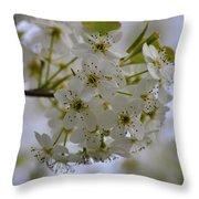 White Flowers On A Tree Throw Pillow