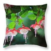 White Fuchsia Throw Pillow