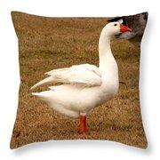 White Goose 2 Throw Pillow