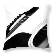 White Guitar 10 Throw Pillow