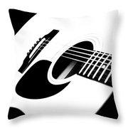 White Guitar 4 Throw Pillow