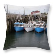 White Head Flotilla Throw Pillow
