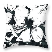White Hibiscus- Art By Linda Woods Throw Pillow