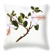 White Hibiscus Art Throw Pillow