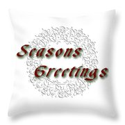 White Holiday Card Throw Pillow