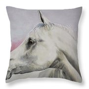 White Horse- Arabian Throw Pillow