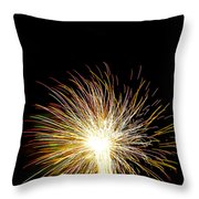 White Hot Throw Pillow