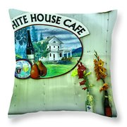 White House Cafe Throw Pillow