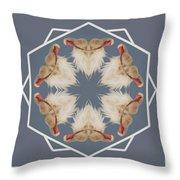 White Ibis Snowflake Throw Pillow