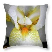 White Iris Study No 1 Throw Pillow
