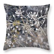 White Irish Flower Throw Pillow