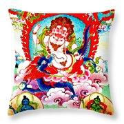 White Jambhala  2 Throw Pillow