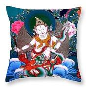 White Jambhala 4 Throw Pillow