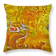 White Jambhala 5 Throw Pillow