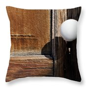 White Knob Throw Pillow