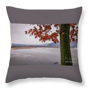 White Lake Throw Pillow