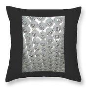 White Lanterns Throw Pillow