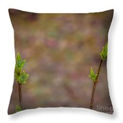 White Lilac Ready To Bloom Throw Pillow