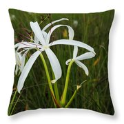 White Lilies In Bloom Throw Pillow