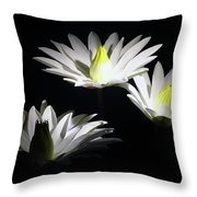 White Lillies Throw Pillow