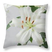 White Lily 2 Throw Pillow
