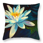 White Lily IIi Throw Pillow
