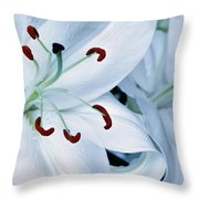 White Lily Triptych Part1 Throw Pillow