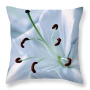 White Lily Triptych Part2 Throw Pillow