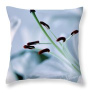 White Lily Triptych Part3 Throw Pillow