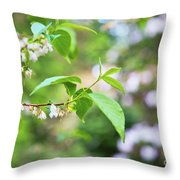 White Love 8 Throw Pillow