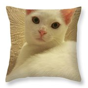 White Love Throw Pillow
