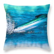 White Marlin -  From The Outer Banks Of North Carolina To Cape M Throw Pillow