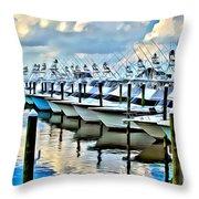 White Marlin Open Throw Pillow